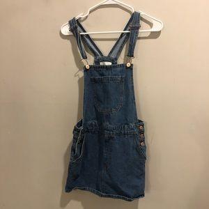 Forever 21 denim overalls blue